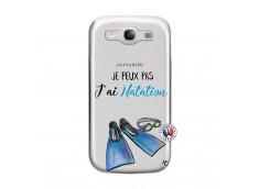 Coque Samsung Galaxy S3 Je Peux Pas J Ai Natation