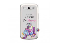 Coque Samsung Galaxy S3 Je Peux Pas J Ai Shopping