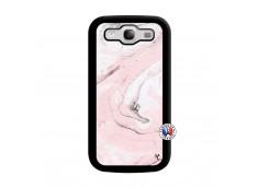 Coque Samsung Galaxy S3 Marbre Rose Noir