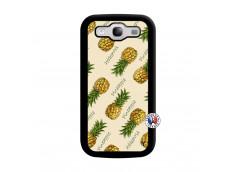 Coque Samsung Galaxy S3 Sorbet Ananas Noir