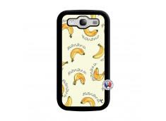 Coque Samsung Galaxy S3 Sorbet Banana Split Noir