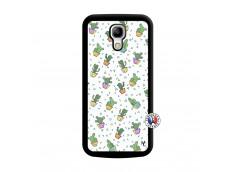 Coque Samsung Galaxy S4 Mini Le Monde Entier est un Cactus Noir