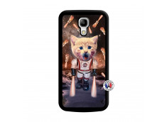 Coque Samsung Galaxy S4 Mini Cat Nasa Noir