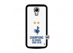 Coque Samsung Galaxy S4 Mini Champion Du Monde Noir