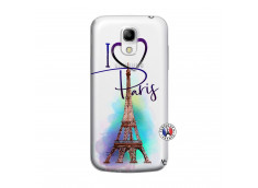 Coque Samsung Galaxy S4 Mini I Love Paris