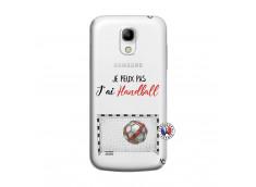 Coque Samsung Galaxy S4 Mini Je peux pas j'ai Handball