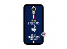 Coque Samsung Galaxy S4 Mini Je Peux Pas On Est Les Champions Du Monde Noir
