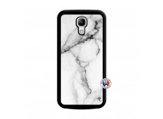 Coque Samsung Galaxy S4 Mini White Marble Noir