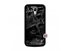 Coque Samsung Galaxy S4 Mini Black Marble Noir
