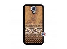 Coque Samsung Galaxy S4 Aztec Deco Noir