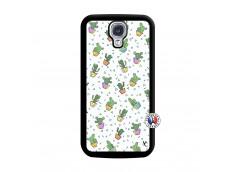 Coque Samsung Galaxy S4 Le Monde Entier est un Cactus Noir