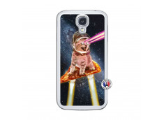 Coque Samsung Galaxy S4 Cat Pizza Translu