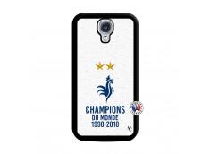 Coque Samsung Galaxy S4 Champion Du Monde Noir