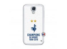 Coque Samsung Galaxy S4 Champion Du Monde Translu