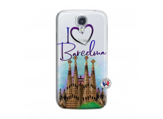 Coque Samsung Galaxy S4 I Love Barcelona
