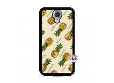 Coque Samsung Galaxy S4 Sorbet Ananas Noir
