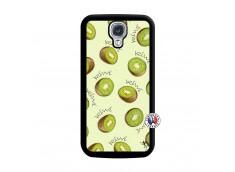 Coque Samsung Galaxy S4 Sorbet Kiwi Noir