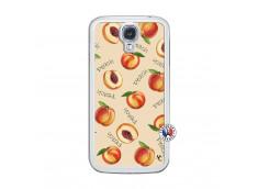 Coque Samsung Galaxy S4 Sorbet Pêche Translu