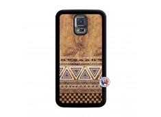 Coque Samsung Galaxy S5 Mini Aztec Deco Noir