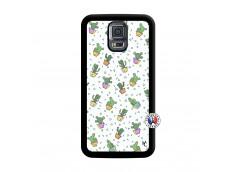Coque Samsung Galaxy S5 Mini Le Monde Entier est un Cactus Noir
