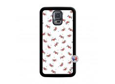 Coque Samsung Galaxy S5 Mini Cartoon Heart Noir