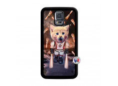 Coque Samsung Galaxy S5 Mini Cat Nasa Noir