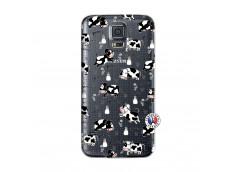 Coque Samsung Galaxy S5 Mini Cow Pattern