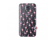 Coque Samsung Galaxy S5 Mini Flamingo