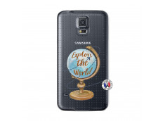 Coque Samsung Galaxy S5 Mini Globe Trotter