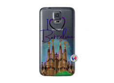 Coque Samsung Galaxy S5 Mini I Love Barcelona