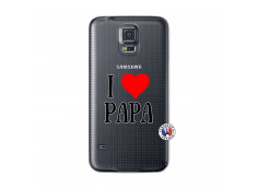 Coque Samsung Galaxy S5 Mini I Love Papa