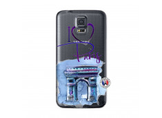 Coque Samsung Galaxy S5 Mini I Love Paris Arc Triomphe