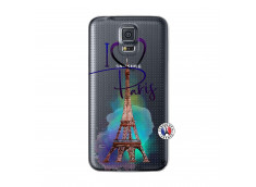 Coque Samsung Galaxy S5 Mini I Love Paris