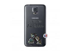 Coque Samsung Galaxy S5 Mini Je peux pas j'ai muscu