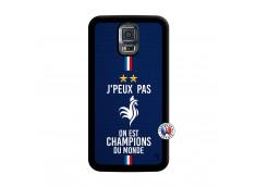 Coque Samsung Galaxy S5 Mini Je Peux Pas On Est Les Champions Du Monde Noir