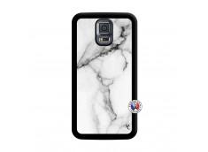 Coque Samsung Galaxy S5 Mini White Marble Noir