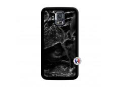 Coque Samsung Galaxy S5 Mini Black Marble Noir