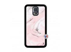 Coque Samsung Galaxy S5 Mini Marbre Rose Noir