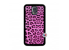 Coque Samsung Galaxy S5 Mini Pink Leopard Noir