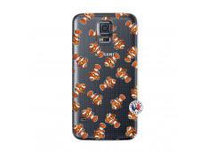 Coque Samsung Galaxy S5 Mini Petits Poissons Clown