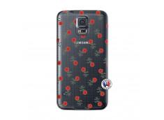 Coque Samsung Galaxy S5 Mini Rose Pattern