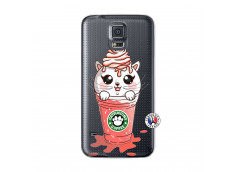 Coque Samsung Galaxy S5 Mini Catpucino Ice Cream