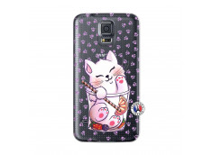Coque Samsung Galaxy S5 Mini Smoothie Cat