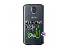 Coque Samsung Galaxy S5 Mini Tout Travail Merite Sa Biere