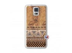 Coque Samsung Galaxy S5 Aztec Deco Translu