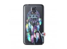 Coque Samsung Galaxy S5 Blue Painted Dreamcatcher