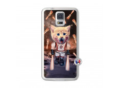 Coque Samsung Galaxy S5 Cat Nasa Translu