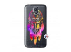 Coque Samsung Galaxy S5 Dreamcatcher Rainbow Feathers