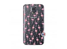 Coque Samsung Galaxy S5 Flamingo