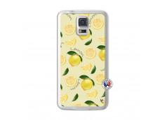 Coque Samsung Galaxy S5 Sorbet Citron Translu